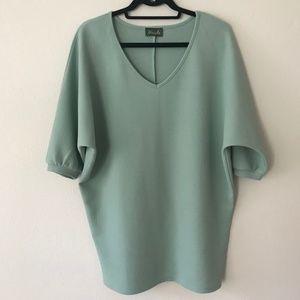 Anthropologie Maude Dolman Style Tunic Mint Size M